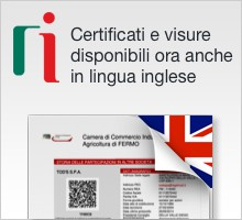 Certificati e visure in lingua inglese
