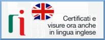 Certificati e visure in lingua inglese ridotto cornice