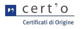 Logo certo' - certificati d'origine